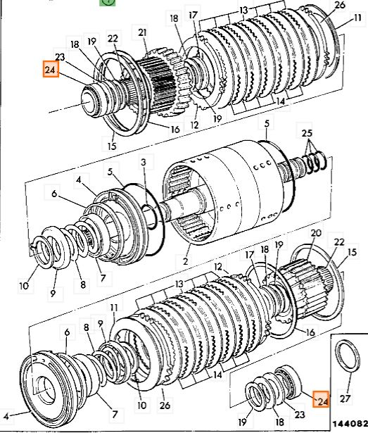 Łożysko skrzyni biegów JCB 35 x 65 x 16 mm